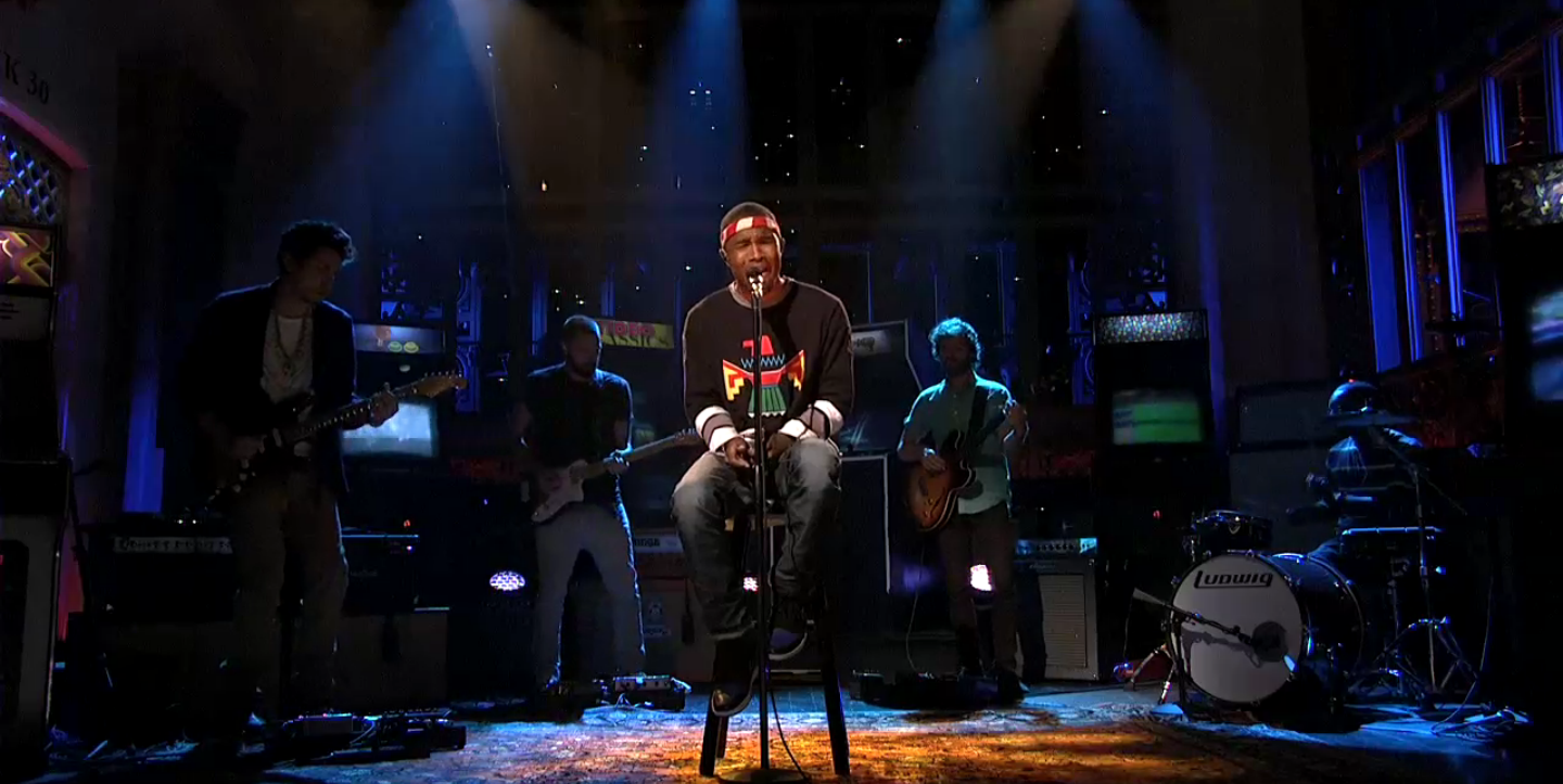 watch]: Frank Ocean Play SNL - We All Want Someone To Shout For at