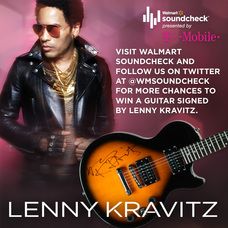 Win A Signed Lenny Kravitz Guitar and Watch An Exclusive