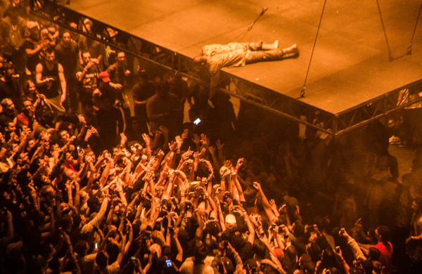 Kanye west at madison square garden september 5 2016 we all want someone to shout for at we for Madison square garden kanye west